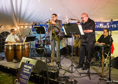 The Afro Bop Alliance sextet headlined the patrons' Dinner on the Guilford Green