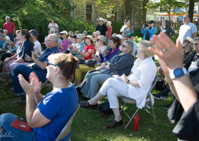 An attentive audience at Hyland House Museum
