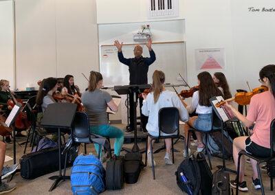 Daniel Bernard Roumain (DBR) teaches Hip Hop composition at Guilford High School