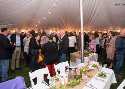 Patrons mill at the Dinner on the Green benefit event