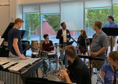 Joe McCarthy teaches Afro-Cuban music at Guilford High School