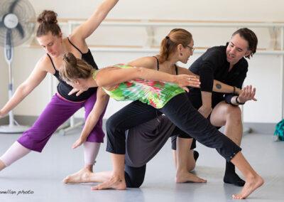 Pilobolus teaching an adult class at Shoreline Ballet