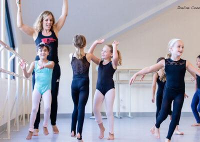 Pilobolus' Emily Kent teaching a class at Shoreline Ballet